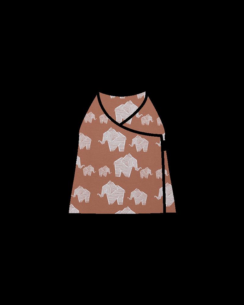 elefante marron